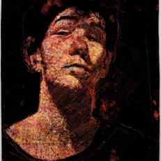 Autoportrét-sgrafito